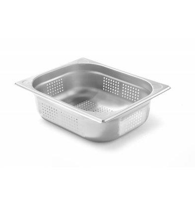 Hendi Gastronormbak RVS 1/2 - 100 mm | Perforiert | 325x265mm