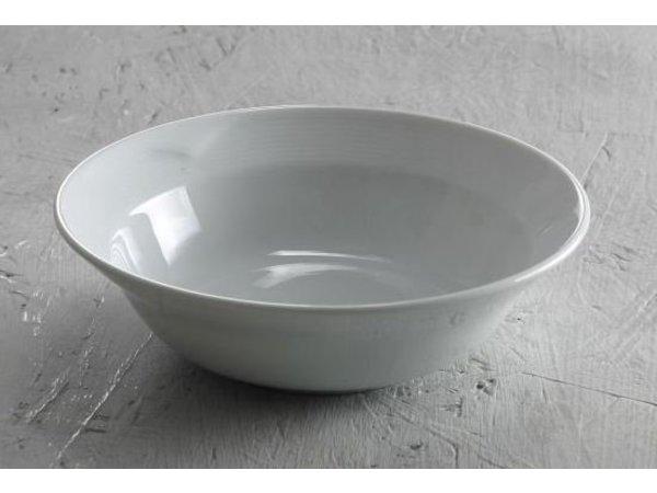 Hendi Salatschüssel - 250x70 mm - Saturn - Weiß - Porzellan