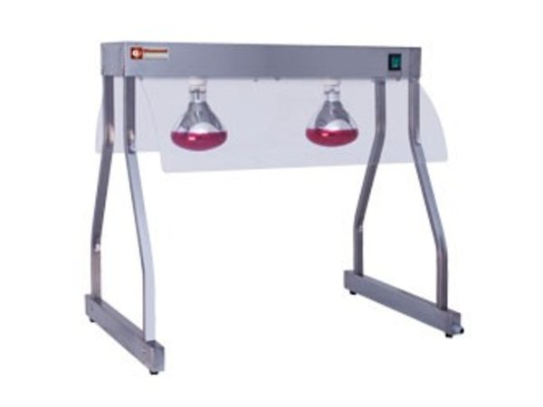 Diamond Infrarot-Wärmebrücke | 2 x 250W Lampe | 860 mm | 0,5 kW | 2 x 1 / 1GN