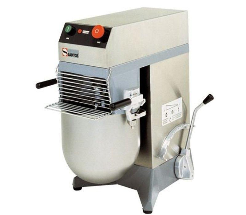Santos Mixer / Mengkneedmachine   Acht Standen   RVS Kom 10 Liter   36x53x(H)58cm