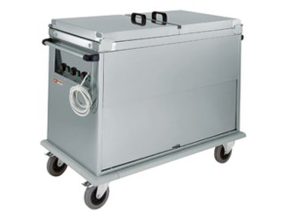 Diamond Bain-Marie Wagen 3x GN 1/1 | Drehtür | 1,8 kW | 950x700x (h) 970 mm