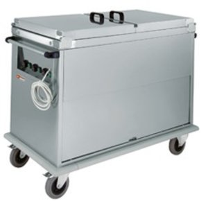 Diamond Bain Marie trolley 2 x 1/1 GN | Revolving door | 1.2 kW | 950x700x (h) 970 mm