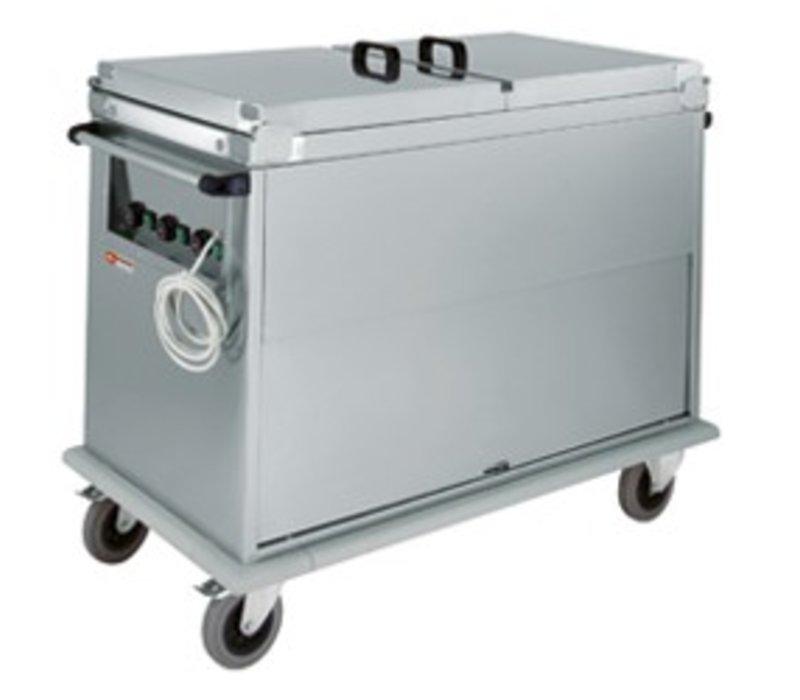 Diamond Bain Marie trolley 2 x 1/1 GN | Revolving door | 1.2 kW | 950x700x (h) 970 mm