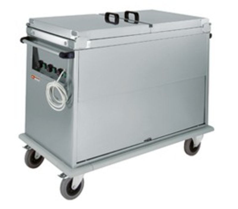 Diamond Bain-Marie Wagen 2 x 1/1 GN | Drehtür | 1,2 kW | 950x700x (h) 970 mm