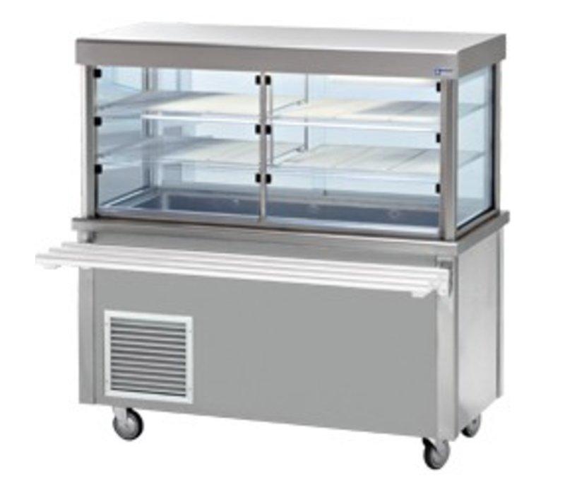 Diamond Kühlvitrine Kühlvitrine mit Unterschrank | Dichte Speicher | 4 x 1/1 GN | 1500x700x (h) 1620mm | 0,6 kW