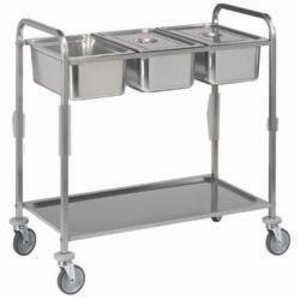 Diamond Trolley Stainless Steel Level 1 | 3x GN 1/1 | 2 wheels with brake | 1120x620x (h) 1120 mm