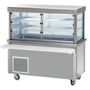 Diamond Refrigerated display Refrigerated display case with base cabinet | 3 Temperatures | 4 x 1/1 GN | 1500x700x (h) 1620mm | 0.6 kW