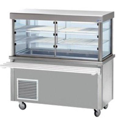 Diamond Kühlvitrine Kühlvitrine mit Unterschrank | 3 Temperaturen | 4 x 1/1 GN | 1500x700x (h) 1620mm | 0,6 kW