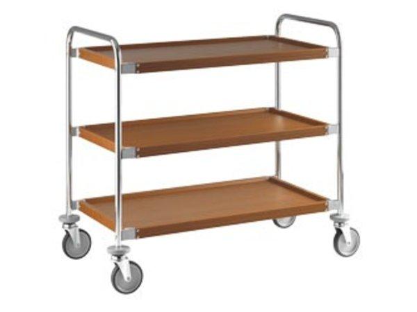 XXLselect Trolley 3 Levels | Imitation Wood layer | 1090x590x (h) 960 mm