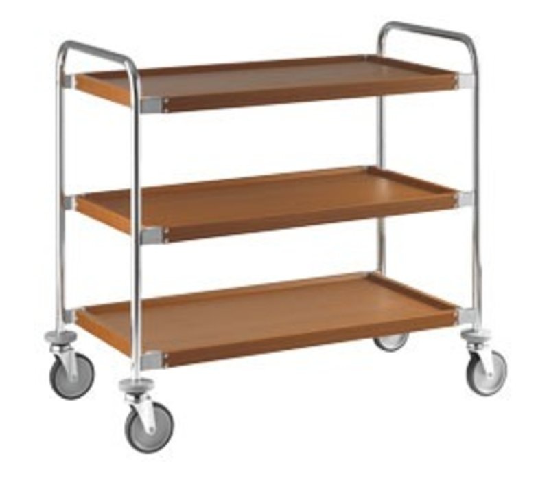 XXLselect Trolley 3 Levels | Covered with Wood Film | 1090x520x (h) 1310 mm
