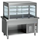 Diamond Refrigerated display Refrigerated display case with base cabinet | 4 x 1/1 GN | 1500x800x (h) 1600mm | 0.6 kW