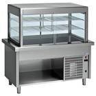 Diamond Kühlvitrine Kühlvitrine mit Unterschrank | 2 Temperatur | 4 x 1/1 GN | 1500x800x (h) 1600mm | 0,6 kW