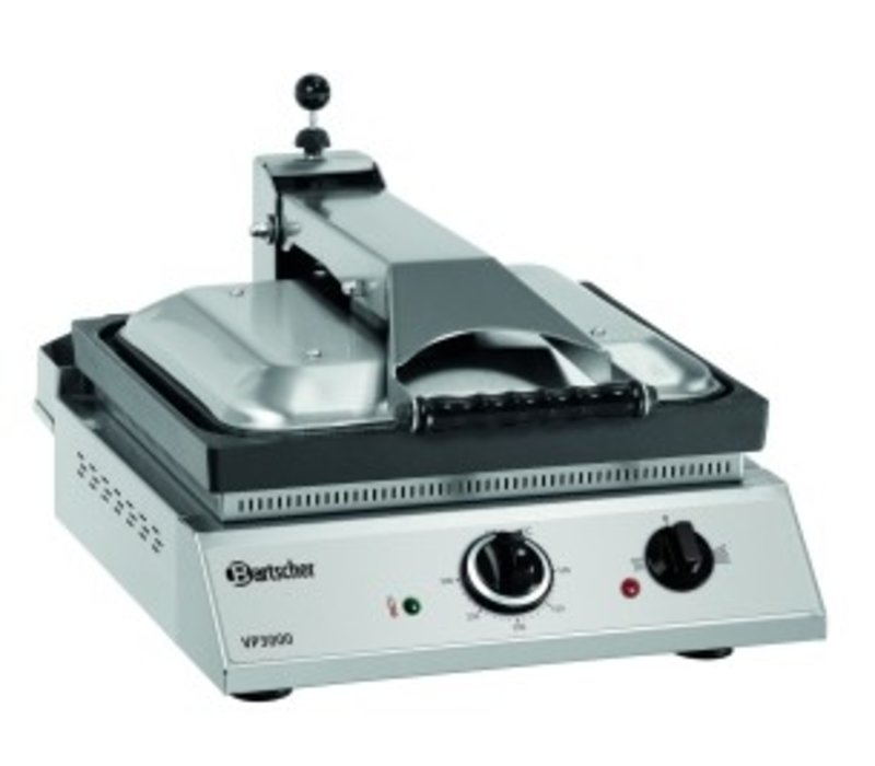 Bartscher Contactgrill VP3000 | RVS | Regelbare Thermostaat | 380x470x(H)240/550mm
