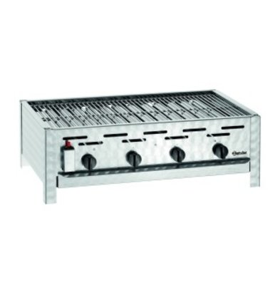 Bartscher Combination table Roast Grill Gas | 4 Pits | Stainless steel | 850x555x (H) 270mm