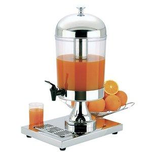 XXLselect Buffet Drankdispenser Hoogglans RVS | 10 Liter met Aftapkraan | 260x360x(h)550 mm