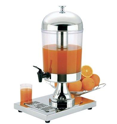 XXLselect Buffet Getränkeautomat Hochglanz-Edelstahl | 8 Liter mit Ablassventil | 260x360x (h) 550 mm