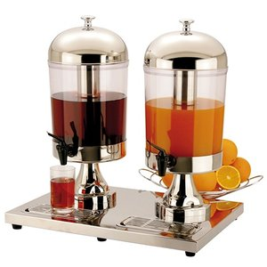 XXLselect Buffet Drinks Dispenser | 2 x 8 liters with drain valve | 540x360x (h) 550 mm