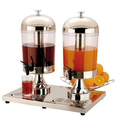 XXLselect Buffet Getränke Spender | 2 x 8 Liter, mit Ablaufventil | 540x360x (h) 550 mm