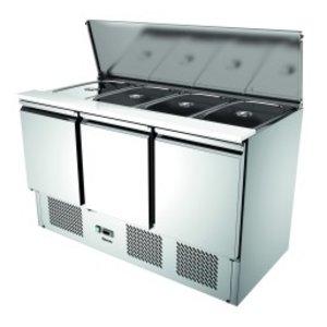 Bartscher Saladette | Air-cooled | 3 Doors | 390 Liter | 1365x700x (H) 870mm