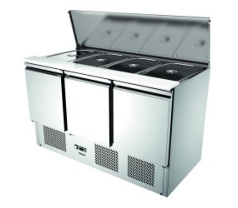 Bartscher Saladette | Luftgekühlte | 3 Doors | 390 Liter | 1365x700x (H) 870mm