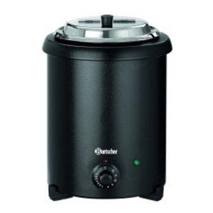 Bartscher Suppentopf 5,4 Liter | Canned schwarz lackiert Sprache | Herausnehmbare Innen | Ø265x (H) 395mm