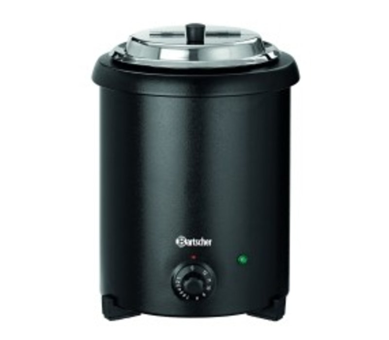 Bartscher Stockpot 5.4 Liter | Canned black lacquered Language | Removable Inner | Ø265x (H) 395mm