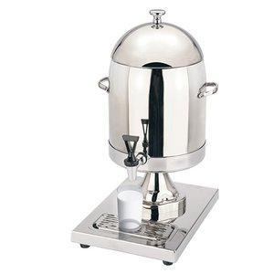 XXLselect Milchspender 5,10 Liter | Hochglanz-Edelstahl mit Ablaufventil | 360x260x (h) 540 mm