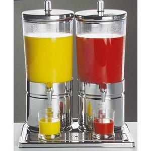 APS Sapdispenser met 2 Koelelementen | 2 x 6 Liter met Aftapkraan | 420x320x(h)520 mm