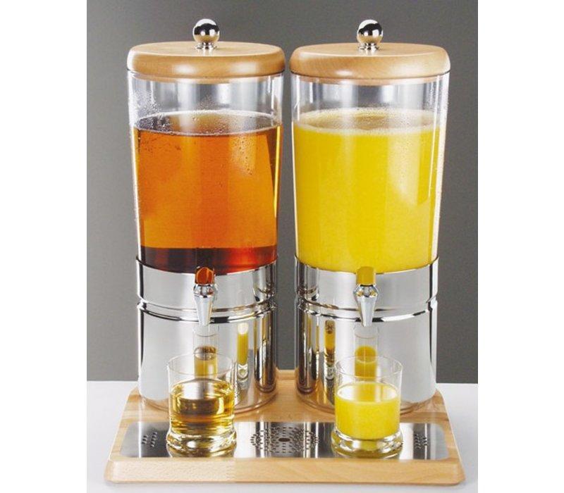 Sapdispenser mit einem Kühlkörper | Wooden Style | 2 x 6 l mit Ablassventil | 420x350x (h) 520 mm
