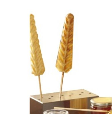 Diamond Stainless steel container | For Waffles on Stick | 120x220x (H) 80mm