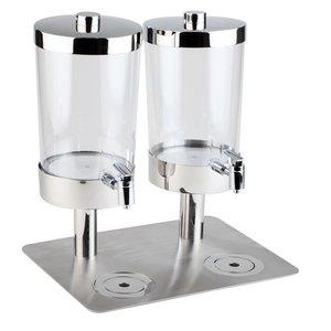 APS Sapdispenser met 4 Koelelementen | 2x6 Liter met Aftapkraan | 350x450x(h)480 mm