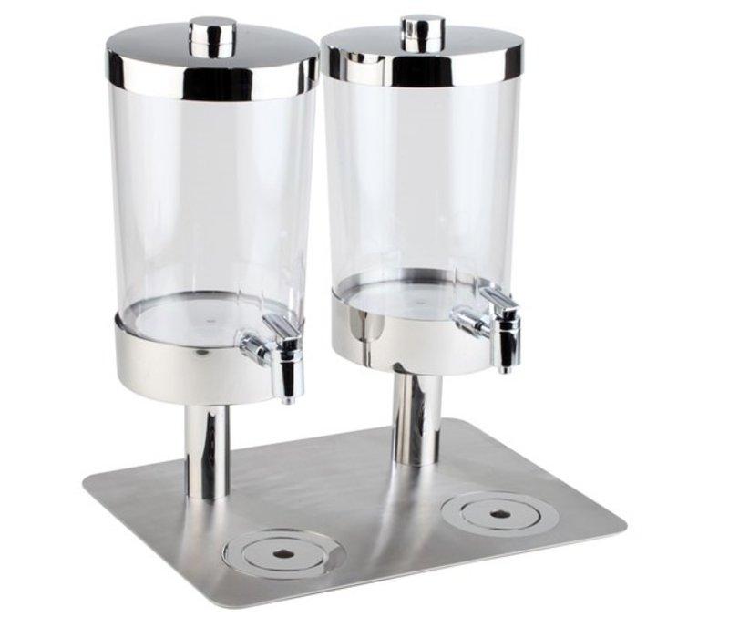 APS Sapdispenser met 4 Koelelementen   2x6 Liter met Aftapkraan   350x450x(h)480 mm