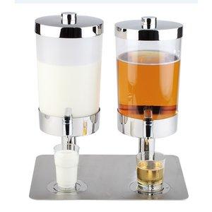 APS Milk / Sapdispenser with 4 Heat Sinks | 2x6 liters with drain valve | 350x450x (h) 480 mm