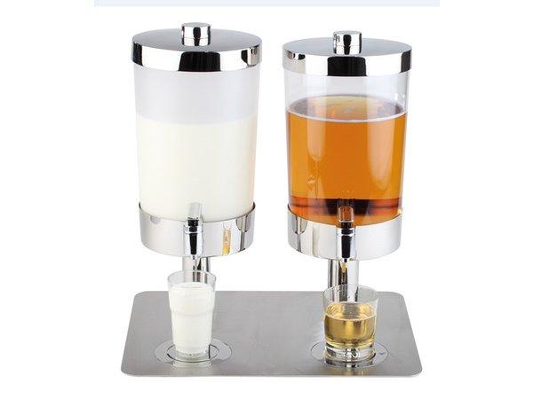 APS Milch / Sapdispenser mit 4 Kühlkörper | 2x6 Liter mit Ablassventil | 350x450x (h) 480 mm