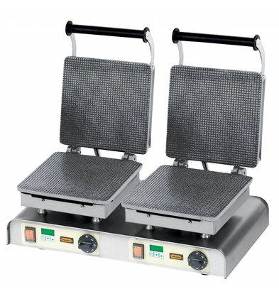 Neumarker Stroopwafelijzer Dubbel - Voor Braderieën Markten en Winkels - 600x340x(h)250mm - 4,4Kw - 400V