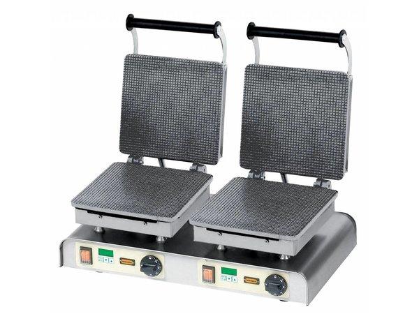Neumarker Stroopwafel Bügeleisen Doppel - für Messen und Märkte Stores - 600x340x (h) 250mm - 4,4kW - 400V