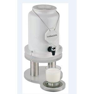 APS Milchspender mit Kühlelement in Fuß | 4 Liter mit Ablassventil | 310x210x (h) 420 mm