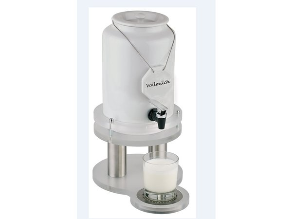 APS Milk dispenser with cooling element in foot | 4 liters with drain valve | 310x210x (h) 420 mm