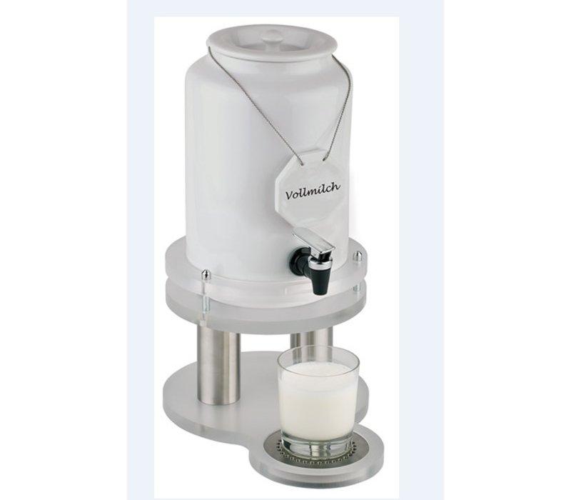 APS Milchspender mit Kühlelement in der Basis 4 Liter mit Ablassventil 310x210x (h) 420 mm
