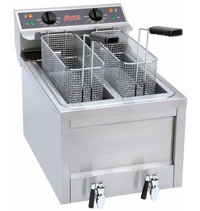 Neumarker Aardappel Twister Friteuse - 2x8 Liter - 40x60x46cm - 2 x 3,5kw
