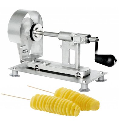 XXLselect Potato Twister Maker - Cutting thickness 2,25mm - RVS - 34x15x (h) 22cm