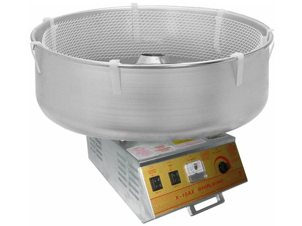 XXLselect Cotton candy machine - Stainless steel Baking - Whirlwind - 36x48x (h) 48cm