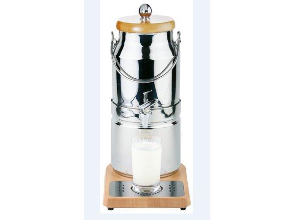 APS Milchspender mit Kühlelement in Fuß | Originalmilchkanne | 3 Liter mit Ablassventil | 210x320x (h) 390 mm