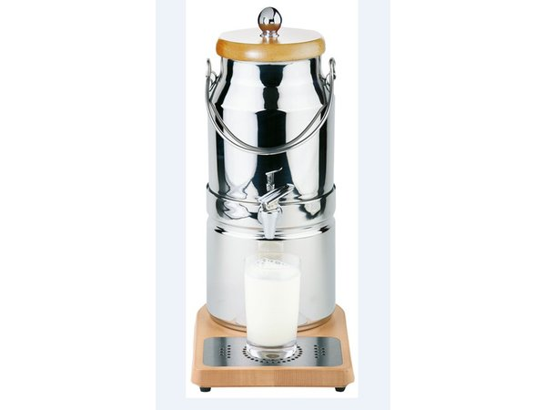 APS Milk dispenser with cooling element in foot | Original Milk churn | 3 liters with drain valve | 210x320x (h) 390 mm