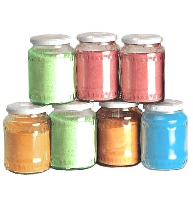 XXLselect 6 x 500g Töpfe Zucker für Zuckerwatte - 4000 Umhüllungen - Blue Berry