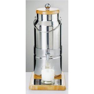 APS Melkdispenser met Koelelement in voet | Originele Melkbus | 5 Liter met Aftapkraan | 230x350x(h)470 mm