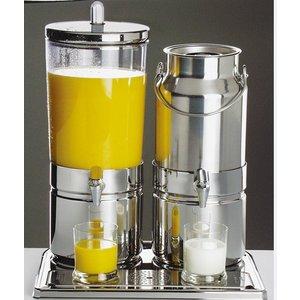 APS Melk / Sapdispenser | 2 Koelelementen met aftapkraan | 6+5 Liter | 420x350x(h)520 mm