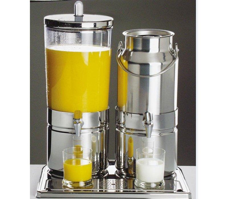 APS Milk / Sapdispenser | 2 Heat Sinks with tap | 6 + 5 Liter | 420x350x (h) 520 mm