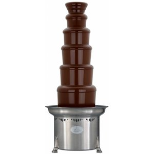 XXLselect Chocolate Fountain - Adjustable - 10kg - 150/250 persons - 47x (h) 86 / 112cm