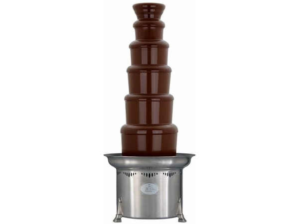 XXLselect Chocolate Fountain - Adjustable - 10kg - 150/250 persons - 47x (h) 86 / 112cm